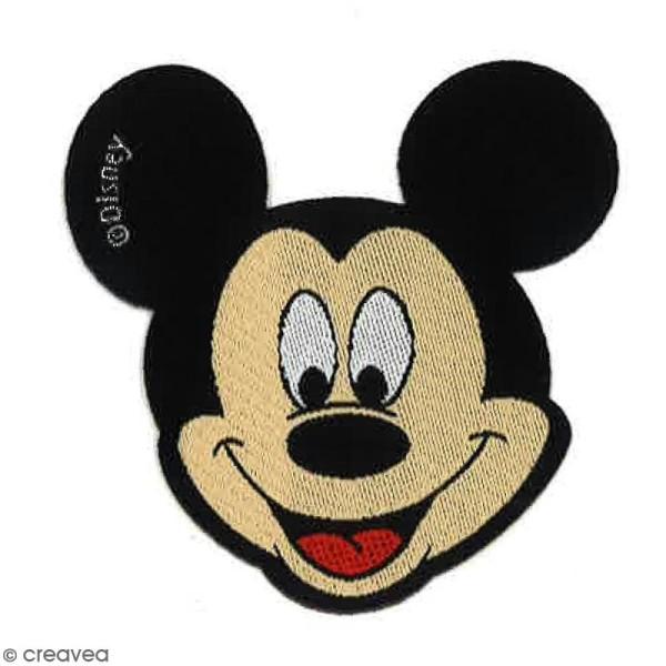 Ecusson brodé thermocollant - Tête de Mickey - Photo n°1