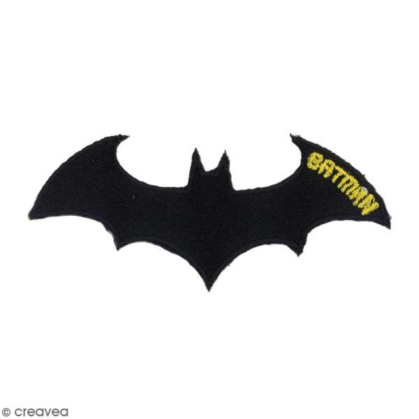 Ecusson brodé thermocollant - Chauve-souris Batman - Photo n°1