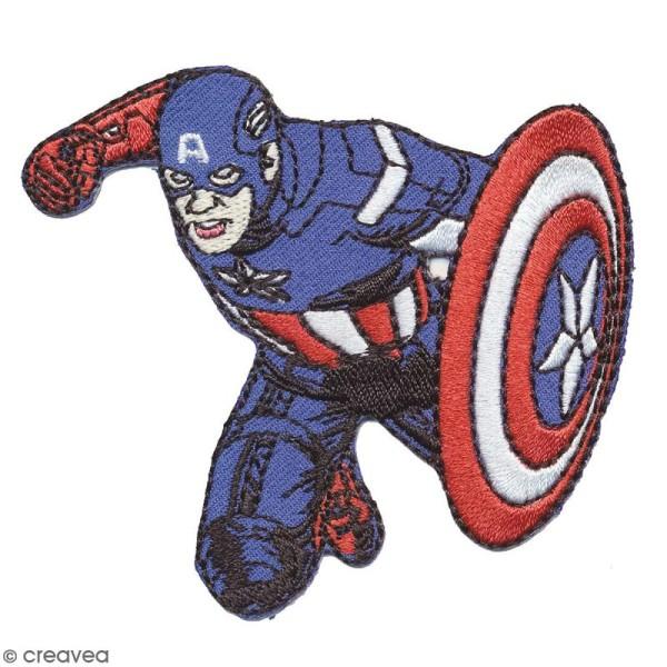 Ecusson brodé thermocollant - Captain America - Photo n°1