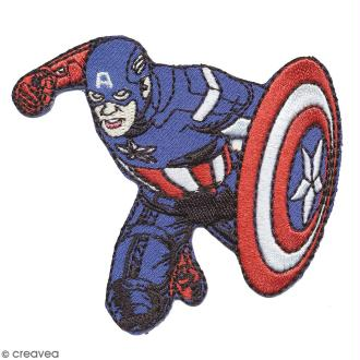 Ecusson brodé thermocollant - Captain America