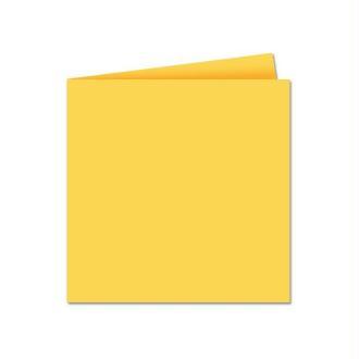 Papier Pollen carte double 135 x 135 Jaune soleil x 25