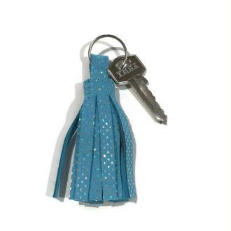 Kit porte clé pompon en cuir