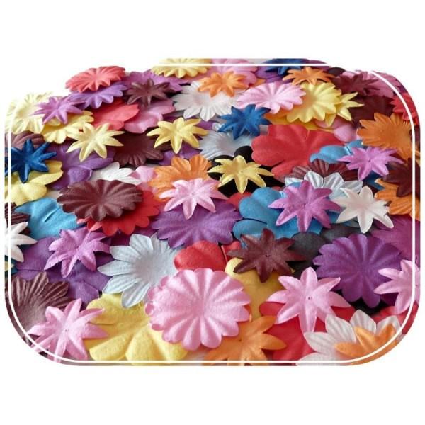 Lot Fleurs En Papier Scrapbooking Scrap Carte Mulberry Multicolore - Photo n°1