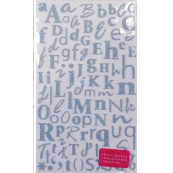 1 Maxi Lot 170 Alphabet Lettre Paillete Glitter Autocollant Stickers