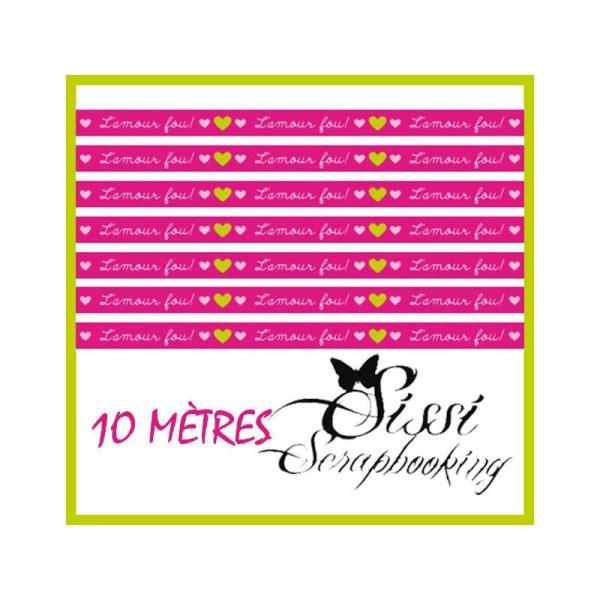 Lot 10M Masking Tape Ruban Adhesif  'Artemio' L'Amour Fou ! 10Mx15mm Scrapbooking Scrap - Photo n°1
