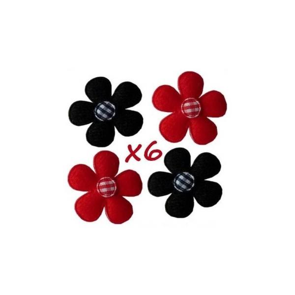 Fleur en tissus noire N°1