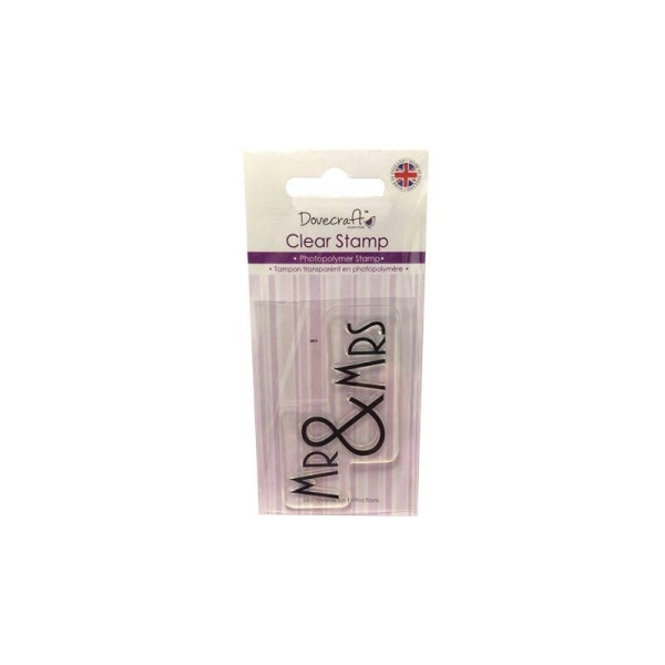 Lot Tampon Mr & Mrs Amour Love Scrapbooking Scrap Carte Clear Stamp - Photo n°1