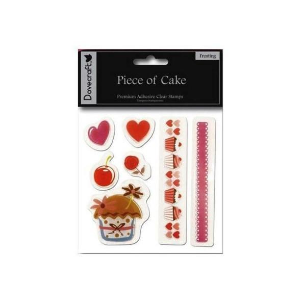 Lot 7 Tampon Transparen‰Ûüt Cupcake The Fleur Scrapbooking - Photo n°1