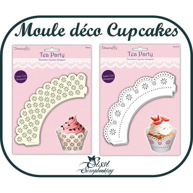 Lot 12 moules napperon decoratif pour cupcakes muffin for Acide tartrique en cuisine