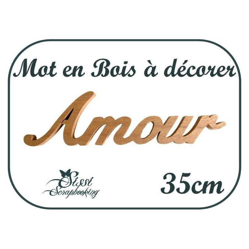 Mot en bois amour a decorer customiser mariage for Amour de cuisine basboussa