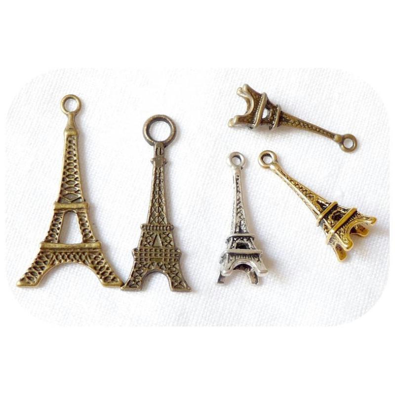 Lot 5 charms breloques tour eiffel paris scrapbooking - Boutique scrapbooking paris ...