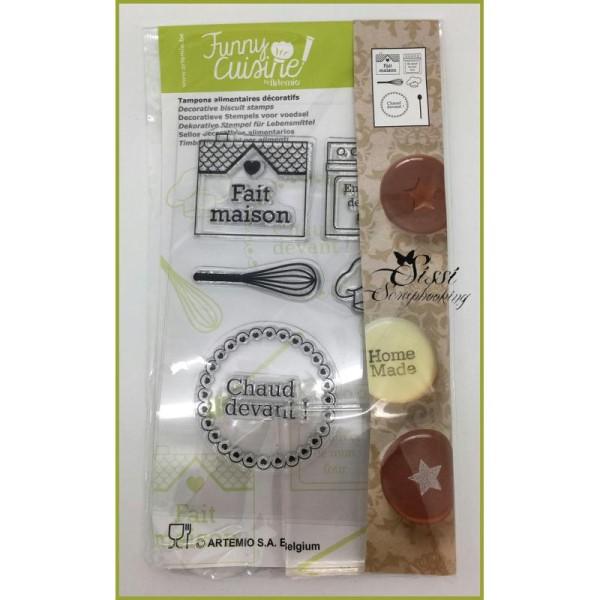 Maxi Lot 6 Tampons Alimentaires Decoratifs Pour Gateaux Cuisine Creative Funny + Bloc Acrylique - Photo n°2