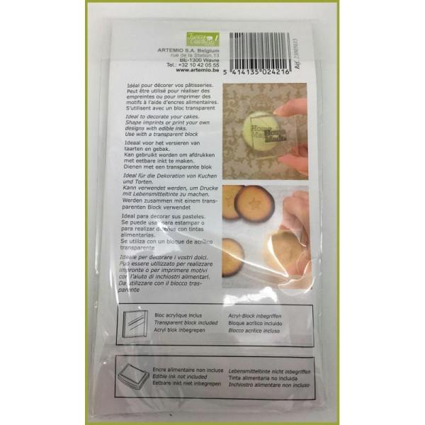 Maxi Lot 6 Tampons Alimentaires Decoratifs Pour Gateaux Cuisine Creative Funny + Bloc Acrylique - Photo n°3