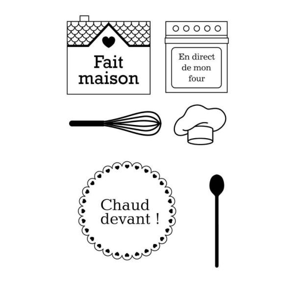 Maxi Lot 6 Tampons Alimentaires Decoratifs Pour Gateaux Cuisine Creative Funny + Bloc Acrylique - Photo n°1