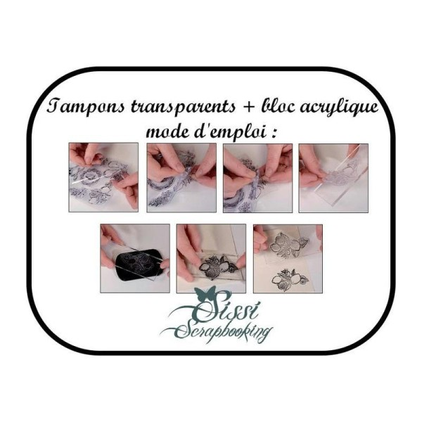 Bloc Acrylique Pour Positionnement Tampon Clear Stamps Scrapbooking Scrap Carte - Photo n°2