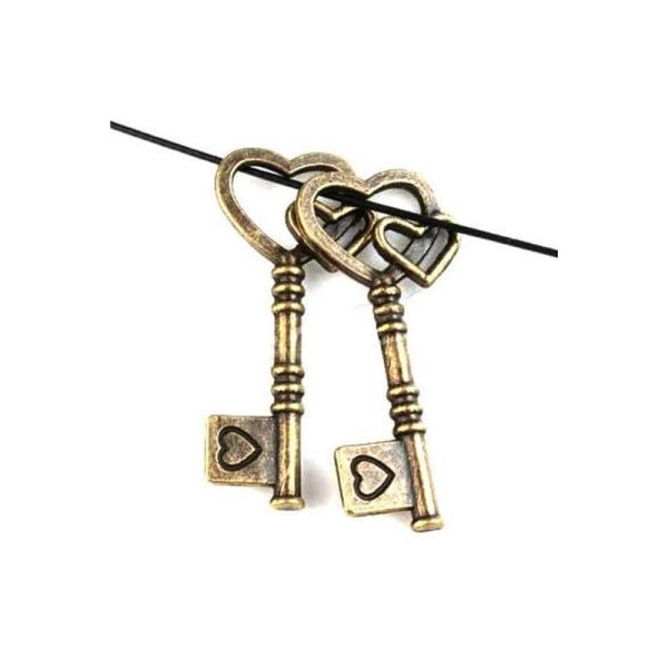 Clé à mon Coeur Charms For Love /& Romance sur le thème de la conception de bijoux