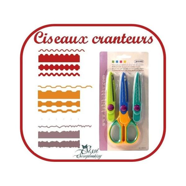Lot Ciseaux Cranteurs A 3 Lames Interchangeable Outil Scrapbooking Scrap Carte - Photo n°1