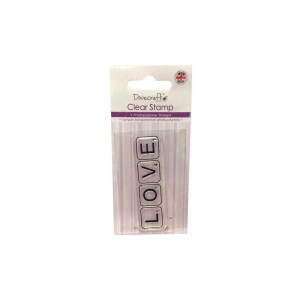Lot Tampon Love Amour Love Scrapbooking Scrap Carte Clear Stamp - Photo n°1