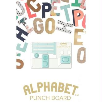 Alphabet Punch Board 'We R Memory Keepers' Creer Rapidement Des Lettres Et Des Chiffres