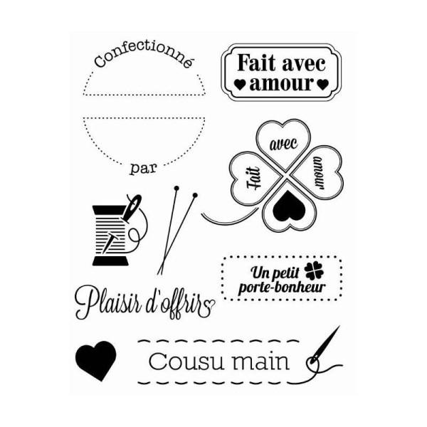 Lot Tampon Creation Fait Maison Amour Cousu Main Tampon Transparent Creavea