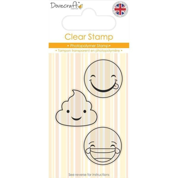 Lot 3 Tampon Transparent Clear Stamp Rire Sourire Laughing Smiley Sissi Scrapbooking - Photo n°1