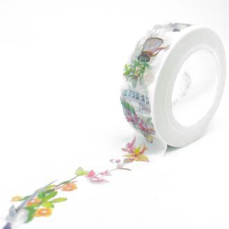 Washi Tape fleurs et plantes, cages 10Mx15mm multicolore