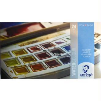 Aquarelle Van Gogh - Boite plastique 24 Demi-godets