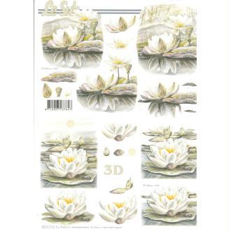 Feuille 3D à découper A4 Nénuphar fleur