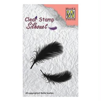 Tampon transparent clear stamp scrapbooking NELLIE'S CHOICE PLUME
