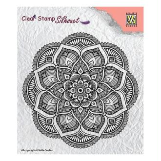 Tampon transparent clear stamp scrapbooking NELLIE'S CHOICE MANDALA
