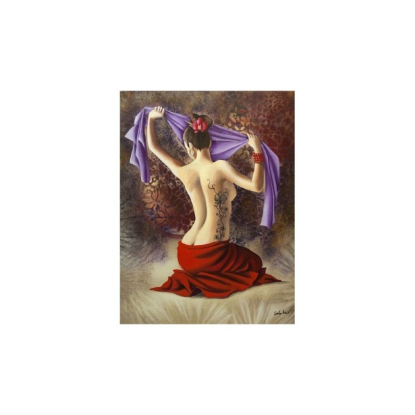 Image 3D - gk3040034 - 30x40 - femme drape violet - Photo n°1