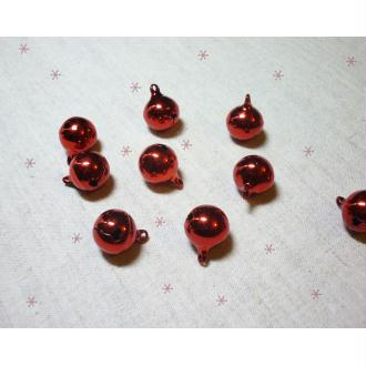 1 Grelot 16 mm rouge Décoration Noël - à l'unité