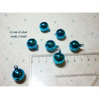 1 Grelot 16 mm bleu Décoration Noël - à l'unité