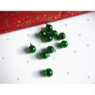Lot 3 Grelots 10 mm Décoration Noël Vert Brillant