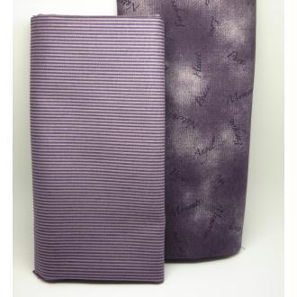 Tissu Coton Violet Prune Rayure Coupon 25x110 cm Déco, Couture, patchwork