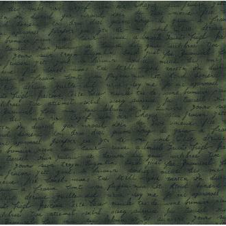 Tissu vert foncé Lettre Coupon 25x110 cm patchwork couture Danemark