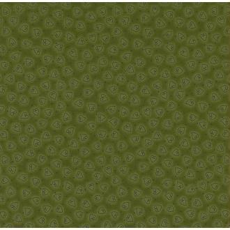 Tissu Vert Olive Coeur Coupon 25x110 cm patch et couture - Danemark