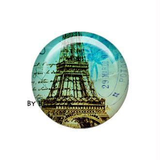 Cabochon en résine 25mm Paris,vintage,rétro,romantique