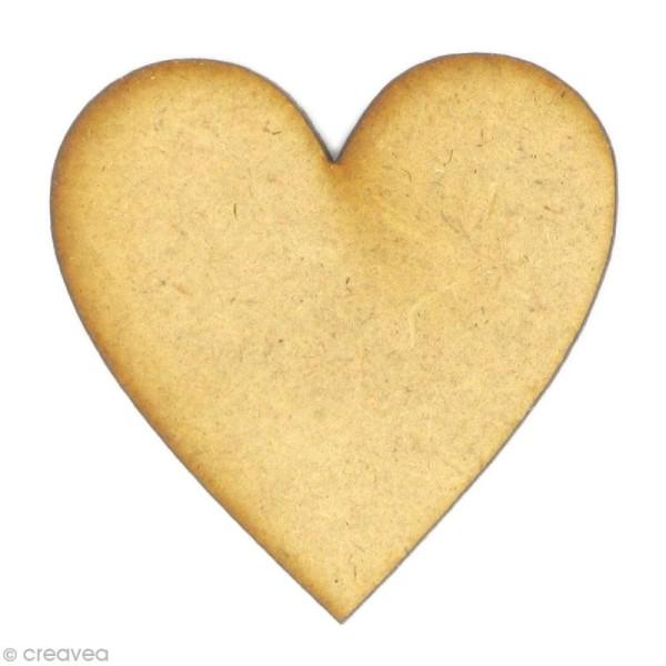 Forme en bois Amour - Coeur - Photo n°1