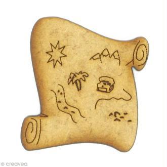 Forme en bois Conte - Carte au trésor