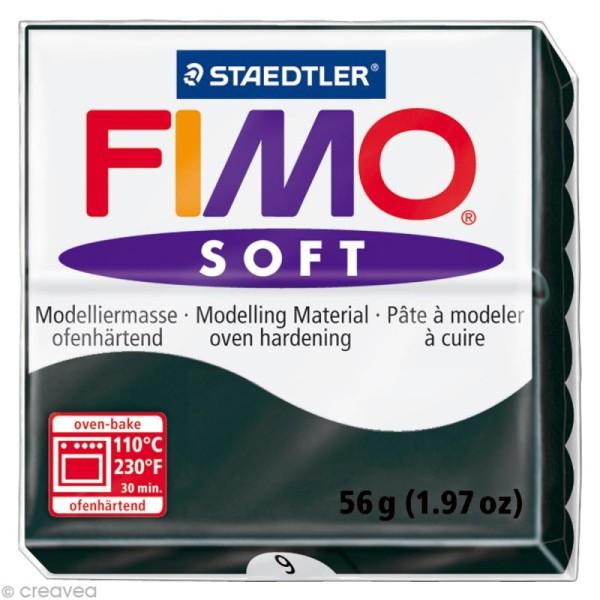 Pâte Fimo soft Noir 9 - 56 gr - Photo n°1