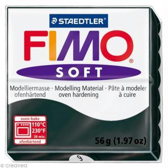 Pâte Fimo soft Noir 9 - 56 gr