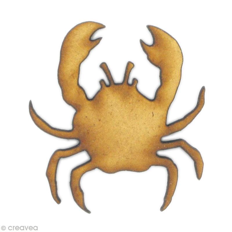 Forme en bois Animal - Crabe - Photo n°1
