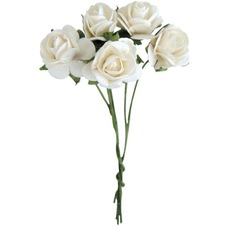 fleur en papier rose blanche x10 fleur papier creavea. Black Bedroom Furniture Sets. Home Design Ideas