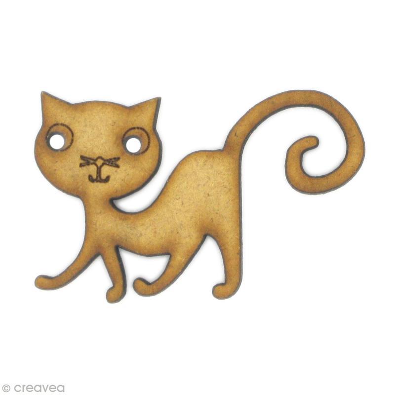 Forme en bois animal chat bd embellissement bois creavea - Cuisine en forme de l ...