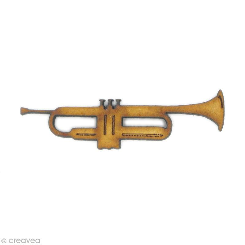 Forme en bois instrument trompette embellissement bois - Cuisine en forme de l ...