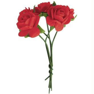 Fleur en papier rose rouge x10