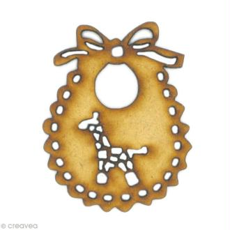 Forme en bois Enfance - Bavoir girafe