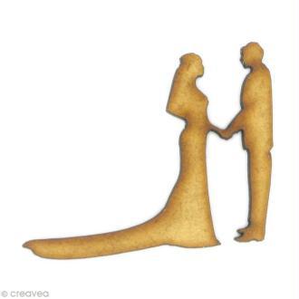 Forme en bois Amour - Couple de mariés