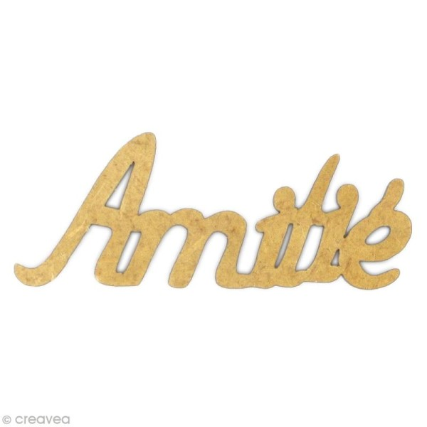 Mot Amitié en bois MDF - Photo n°1